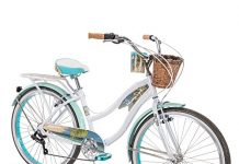 Huffy Panama Jack Beach Cruiser Bike for Girls, Lightweight