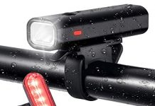 Xmerry Bike Lights,Bicycle Headlight, Bike Taillight, USB Rechargeable Bicycle Lights Set Powerful Lumens LED Bike Lights Front Back Kids Adults Road Cycling Safety Flashlight