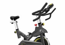 Indoor Exercize Bike Stationary Cycling Bike - Cardio Bike with Monitor and Phone Holder for Home Exercise