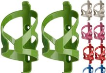50 Strong Bike Water Bottle Holder 2 Pack - Made in USA - Easy to Install - Durable Bicycle Cage - Vivid Lime