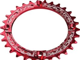 RaceFace 104mm Single Chain Ring, Red, 30T 9/10/11 Speed