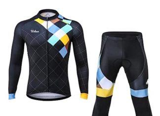 Men's Urban Cycling Windsor Long Sleeve Jersey, Tights, or Kit Set (Long Sleeve Jersey + Tights Kit, Small)