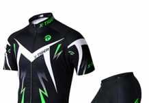 X-TIGER Men's Cycling Jersey Set,Biking Short Sleeve Set with 5D Gel Padded Shorts,Cycling Clothing Set for MTB Road Bike,Green XXXL
