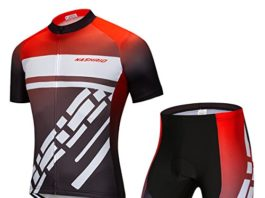 NASHRIO Men's Cycling Jersey Set Road Bike Short Sleeves Kit with 4D Padded Gel