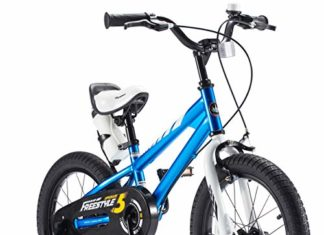 BMX Freestyle 12 inch Kid's Bike, Blue with two hand brakes