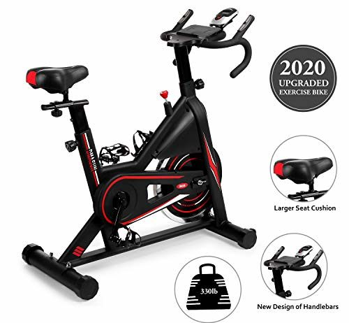 DMASUN Exercise Bike, Indoor Cycling Bike Stationary, Comfortable Seat Cushion, Multi - Grips Handlebar, Heavy Flywheel Upgraded Version (Black)
