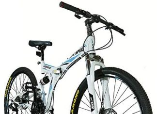 "Xspec 26 ""21-Speed ​​Folding Mountain Bike for Adult"