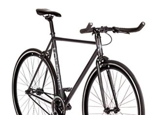"Big Shot Bikes | Dublin Black | Fixie Track Bike | Single Speed or Fixed Gear | Matte Black & Black Accents | for Men & Women | Rider Height 5'7"" to 5'11"" 