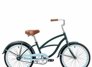 Firmstrong Special Edition Urban Girl Cruiser Bike, 20 Inches, Single-Speed, Dark Green