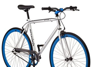 Schwinn Stites Single-Speed Fixie Bike, for Urban and City Riding, White