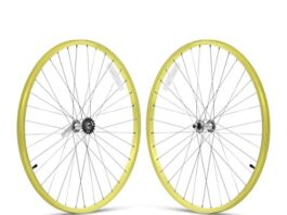 Firmstrong 1-Speed Beach Cruiser Bicycle Wheelset, Front/Rear, Yellow, 26""