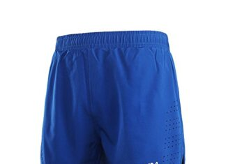 Lixada Men's 2-in-1 Running Shorts Quick Drying Breathable Active Training Exercise Jogging Cycling Shorts Blue