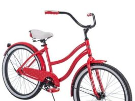 "Comfortable,Stylish and Elegant Huffy 24"" Cranbrook Girls' Cruiser Bike Frame That Eliminates Back,Arms and Leg Fatigue,Red,Ideal for Casual or Recreational Riders"