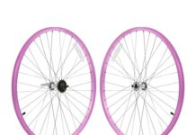 Firmstrong 1-Speed Beach Cruiser Bicycle Wheelset, Front/Rear, Pink, 26""