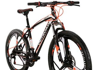 Max4out Mountain Bike 21 Speed 26 inches Shining SYS Double Disc Brake Suspension Fork Rear Suspension Anti Slip Bikes Orange
