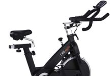 ECHANFIT Magnetic Bike Stationary Exercise Indoor Cycling Bikes with Quiet Belt Drive and Infinite Resistance Levels for Home Studio Health Fitness
