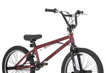 Hiland 20 Inch Kids BMX Bike for Boys Girls Teenager Freestyle Bicycle Red