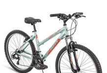 Huffy Hardtail Mountain Trail Bike 24 inch, 26 inch, 27.5 inch, 26 inch wheels/17 inch frame, Gloss Metallic Mint