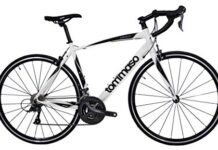 Tommaso Forcella Endurance Aluminum Road Bike, Carbon Fork, Shimano Claris R2000, 24 Speeds, Aero Wheels - Matte White - Large