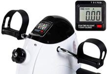 iHomey Pedal Exerciser Portable Mini Exercise Bike for Arm and Leg with LCD Digital Monitor (white)