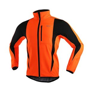 ARSUXEO Winter Warm UP Thermal Softshell Cycling Jacket Windproof