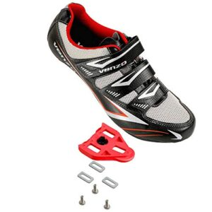 Venzo Bicycle Men's Road Cycling Riding Shoes - 3 Straps- Compati