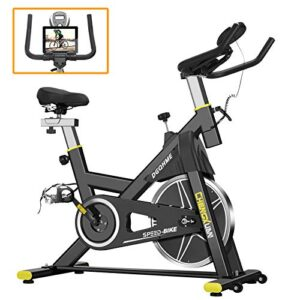 DGQHME Indoor Exercise Bike Fitness Stationary Comfortable Seat M