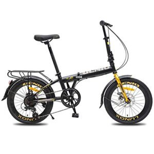 Huntaway Folding Bike for Adult with 7Speeds Disc-Brakes Urban Ci